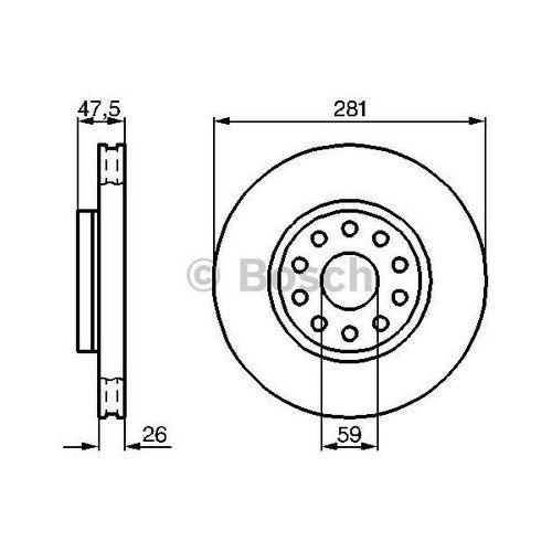 tarcza hamulcowa; przednia, 0 986 478 460 marki Bosch