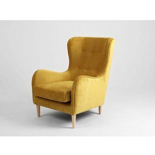 Fotel tapicerowany z wysokim oparciem Customform COZYBOY- różne kolory tapicerki, kolor różowy