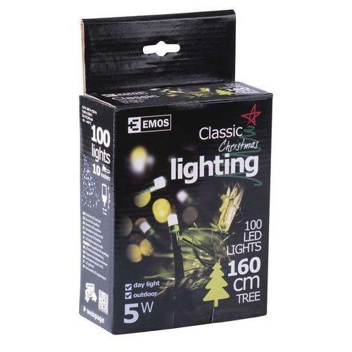 EMOS Lampki choinkowe 100 LED, 10m, IP44, białe