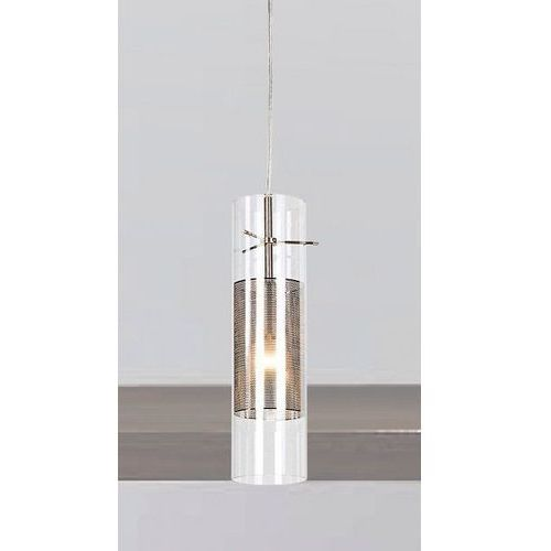 Lampa wisząca vicky md0161c-1 zwis oprawa tuba chrom przezroczysta marki Italux
