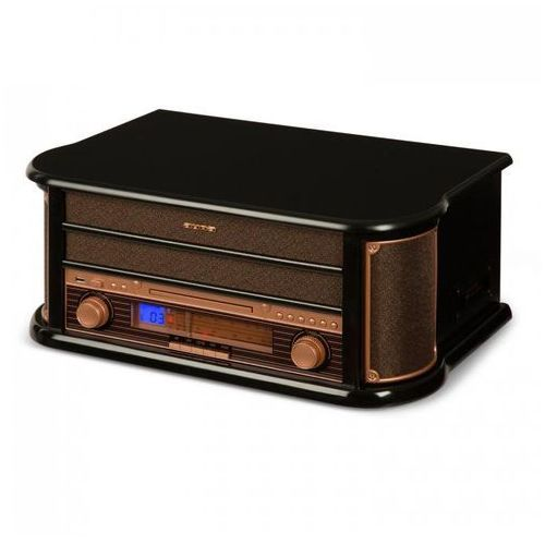 Belle epoque 1908 miniwieża stereo retro gramofon usb cd mp3 marki Auna