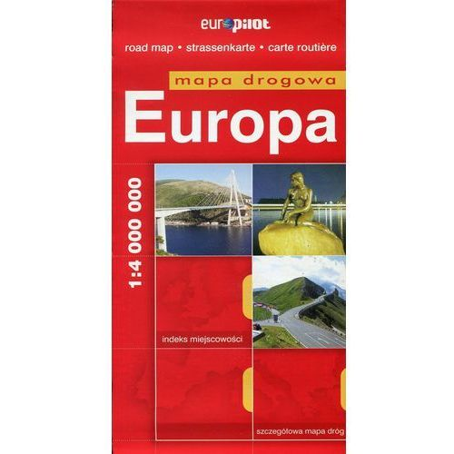 Europa. Mapa Droga W Skali 1:4 000 000, oprawa miękka
