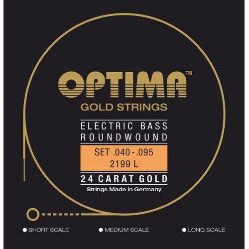 Optima 2199L (680415) struny do gitary basowej Gold Strings Round Wound Komplet