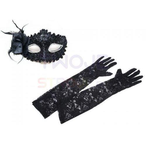 d92eef433cbb02 Twojestroje.pl Maska wenecka i koronkowe rękawiczki czarne 24,99 zł MASKA  WENECKA + RĘKAWICZKIbłyszcząca wenecka maska i długie bezpalcowe rękawiczki  z ...