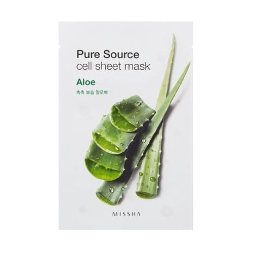 Missha Pure Source Cell Sheet Mask Aloes maseczka z Aloesem - 21 ml (8806185741842)