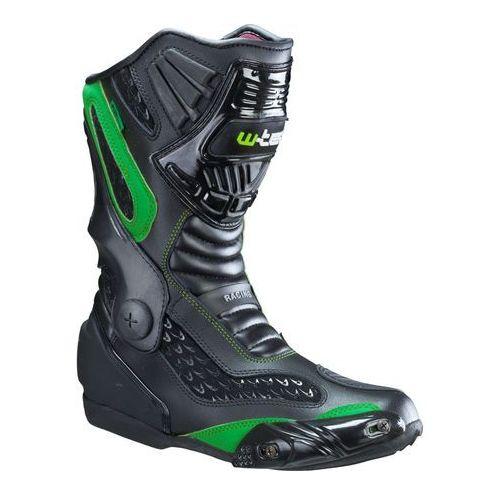 Skórzane buty motocyklowe brogun nf-6003, zielony, 44 marki W-tec