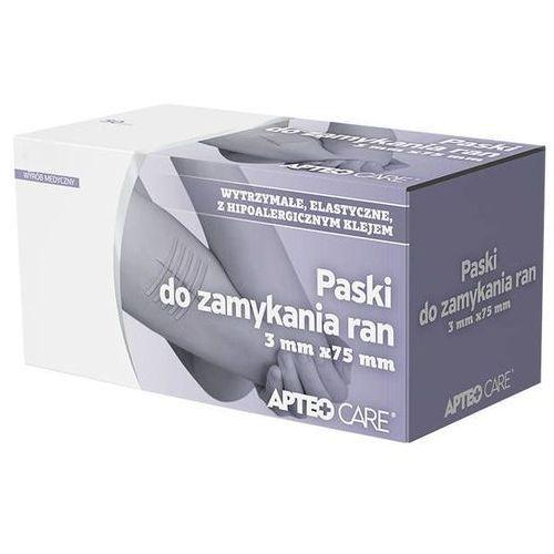 Apteo care paski do zamykania ran 3 x 75mm x 5 sztuk marki Synoptis pharma