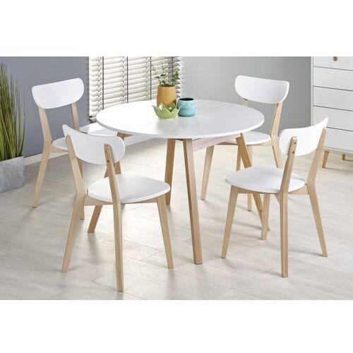 Stół rozkładany Ruben Biały blat / nogi naturalne