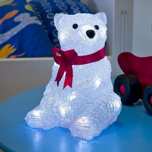 Dekoracyjna lampa LED na baterie Niedźwiedź 18cm