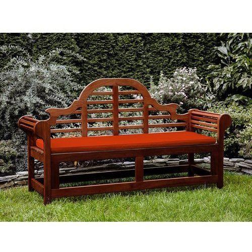 Ławka ogrodowa drewniana 180 cm poducha jasnoceglasta toscana marlboro marki Beliani