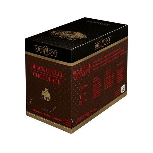 Richmont Herbata o smaku czekolady z chili, 50 saszetek | , black chili chocolate
