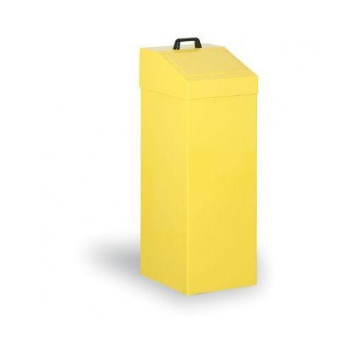 Kosze metalowe na odpady segregowane, 100 L, żółty