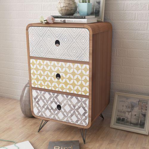 Vidaxl  brązowa szafka stojąca z 3 szufladami, kategoria: szafki