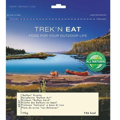 """danie z ryżem """"balkan art"""" żywność kempingowa niebieski żywność liofilizowana marki Trek'n eat"""