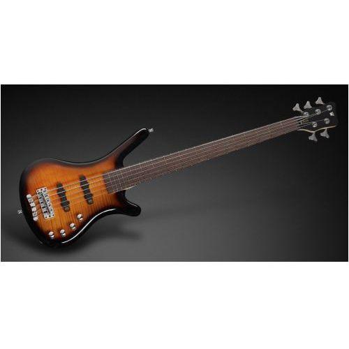 Rockbass corvette classic 5-str. almond sunburst transparent high polish, active, fretted gitara basowa