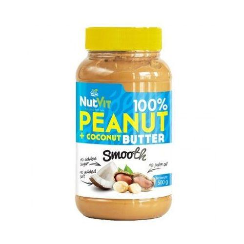 nutvit 100% peanut + coconut butter smooth - 500g marki Ostrovit