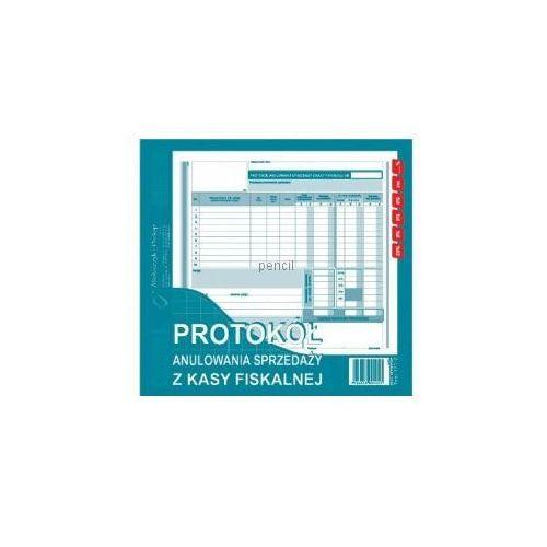 Protokół anulowania sprzedaży z kasy fiskalnej 2/3 A4 171-2 oferta ze sklepu Pencil