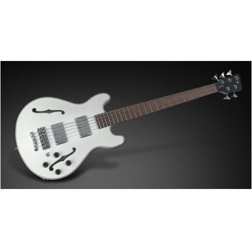 Rockbass star bass 5-str. solid creme white high polish, fretted - long scale gitara basowa