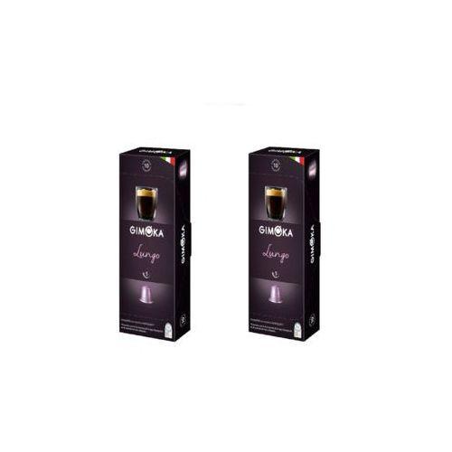 Zestaw 2x lungo nespresso włoska kawa w kapsułkach 10szt. marki Gimoka