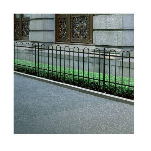 Ogrodzenie ozdobne palisadowe ze stali, czarne, 80 cm, vidaXL