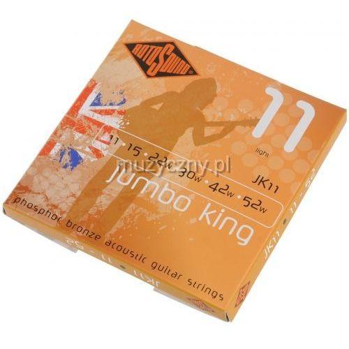 jk-11 jumbo king struny do gitary akustycznej 11-52 marki Rotosound
