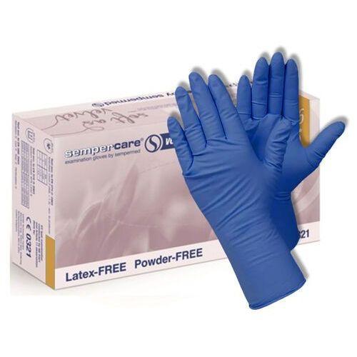 Semperit Rękawice sempercare velvet 100szt. – nitrylowe bezpudrowe niebieskie rozm. xs