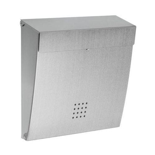 Skrzynka na listy 34 x 35 x 10 cm srebrna A4 STANDERS (3276000619277)
