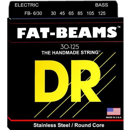 Dr fat beams - struny do gitary basowej, 6-string, medium,.030-.125