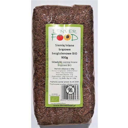 Denver food Len brązowy bezglutenowy ( siemię lniane ) bio 900 g (5904730450430)