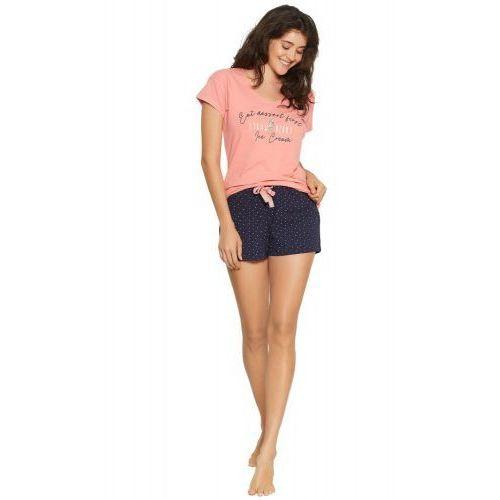 Bawełniana piżama damska Henderson 38054 Fizzy Short czerwona, kolor czerwony