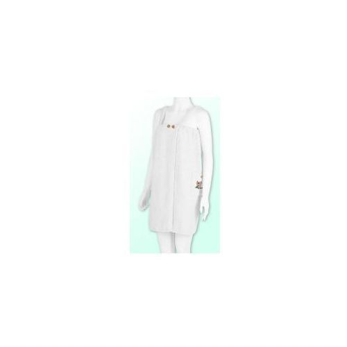 Sauna Pareo Białe z logo i guzikami 100% Bawełna Damski 70*140 - Gracja 11, E7B9-261ED