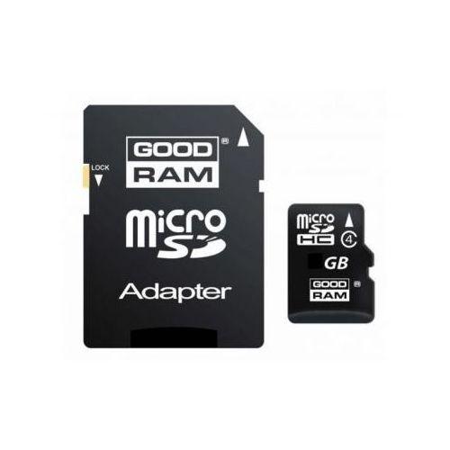 Mikro-Karta Pamięci/Zapisu Flash SD/HC 4GB + Adapter SD., Goodram z 24a-z.pl