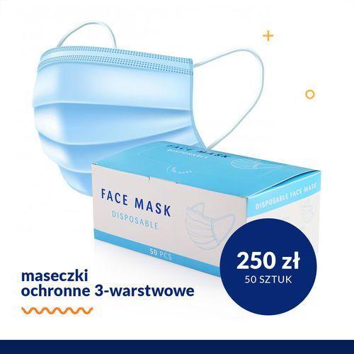 Maseczki, Maski Ochronne 3-warstowe 50 szt.