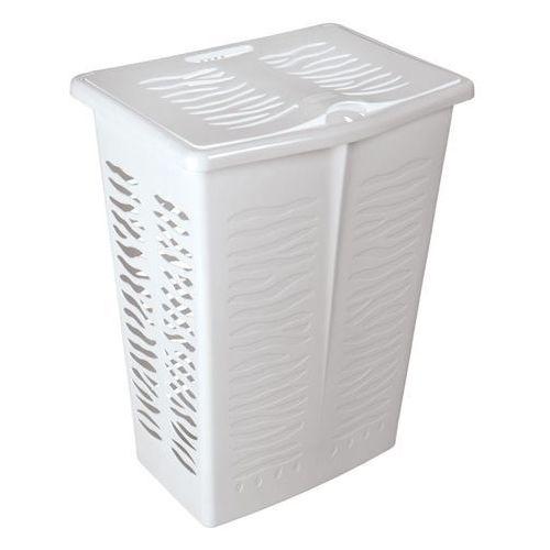Kosz na bieliznę zebra 42l - biały marki Branq