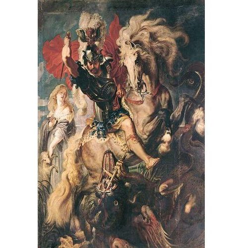 obraz The Combat Between Saint George and the Dragon 1606 Peter Paul Rubens (obraz)
