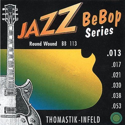Thomastik bb113 (676827) struny do gitary elektrycznej jazz bebop series nickel round wound komplet