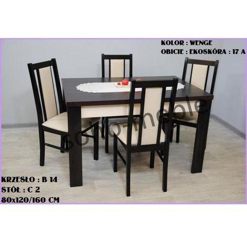 ZESTAW ZEFIR VI 4 KRZESŁA B 14 + STÓŁ C 2 80x120/160 CM - produkt z kategorii- zestawy mebli do salonu