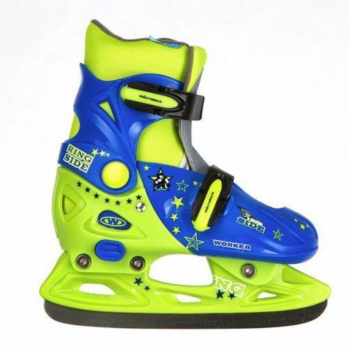 Dziecięce łyżwy WORKER Kelly kolor niebiesko-zielony, rozmiar S(33-36) - oferta [a5d2612a7515e558]
