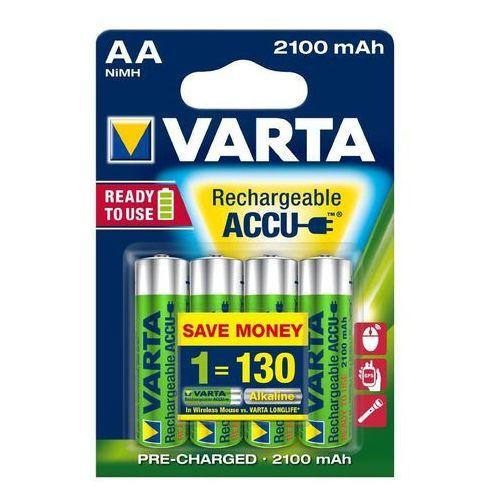 4 x akumulatorki Varta Ready2use R6 AA Ni-MH 2100mAh