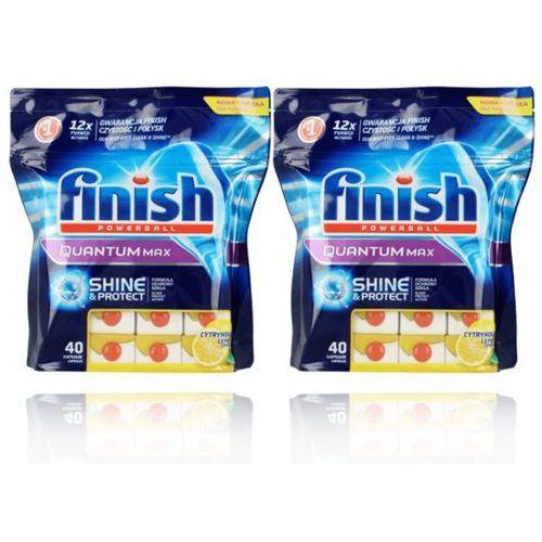 Reckitt benckiser 2x40 finish calgonit quantum max lemon tabletki 80szt, kategoria: kostki do zmywarek