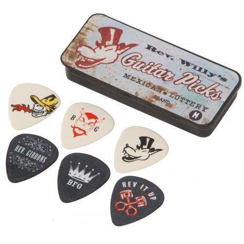 Dunlop T02M Reverend Willy′s 6 kostek gitarowych medium