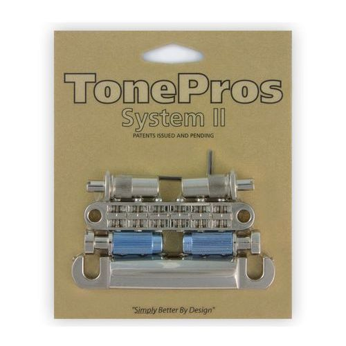 Tonepros lpm02-n - bridge and tailpiece set, mostek do gitary, niklowany