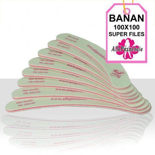 Pilnik do paznokci LOGO banan 100/180 biały - produkt z kategorii- pilniki i polerki do paznokci