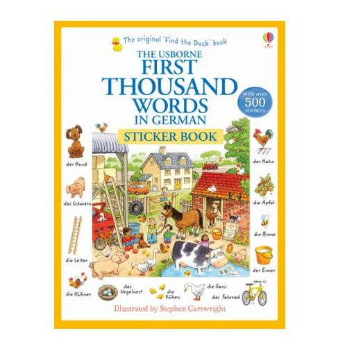 First Thousand Words in German Sticker Book (9781409580249)