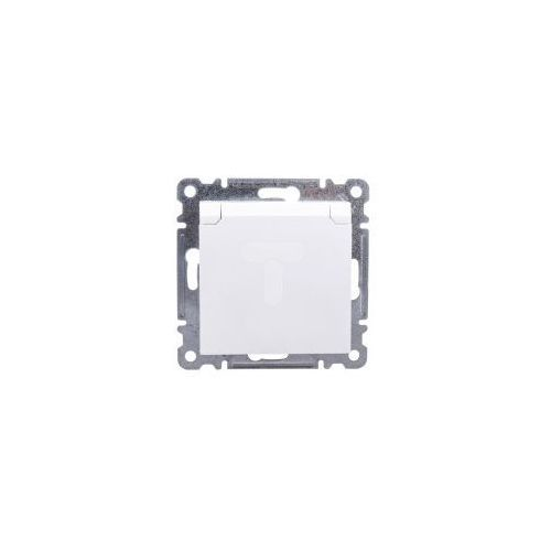 LUMINA2 Gniazdo pojedyncze z/u 16A z klapką IP44 białe WL1120, 7D05-98848