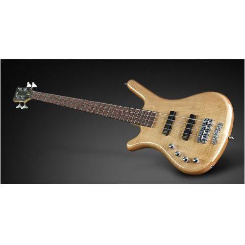 RockBass Corvette Premium 4-String, Natural Transparent High Polish, Active, Fretted, Lefthand gitara basowa
