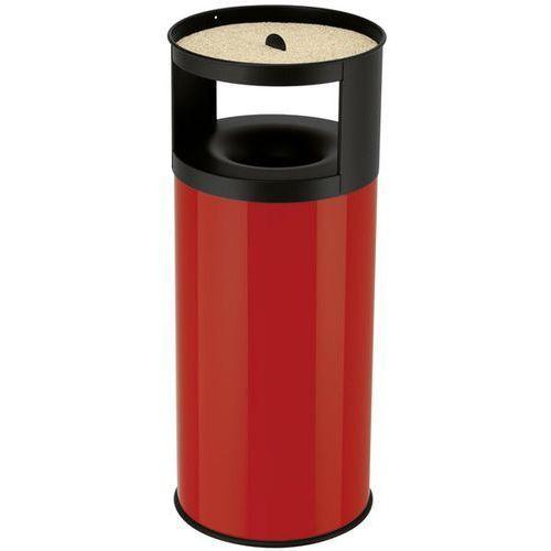 Pojemnik na odpadki, z nakładaną popielniczką, gaszenie płomieni, miejsce na odp