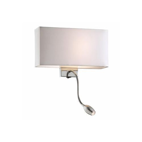 Ideal Lux 35949 - Kinkiet HOTEL AP2 BIANCO 1xE27/60W/230V + 1x1W/LED/230V