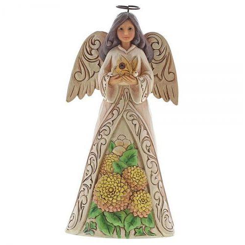 Anioł Listopad Monthly Angel Figurine November Angel 6001572 artysta Jim Shore, pamiątka narodzin, chrztu figurka dewocjonalia