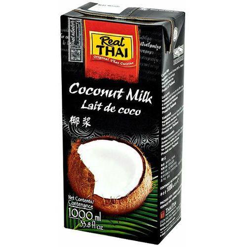 Real thai Mleko kokosowe (85% wyciągu z kokosa) 1l x 12 sztuk - (8858135000976)